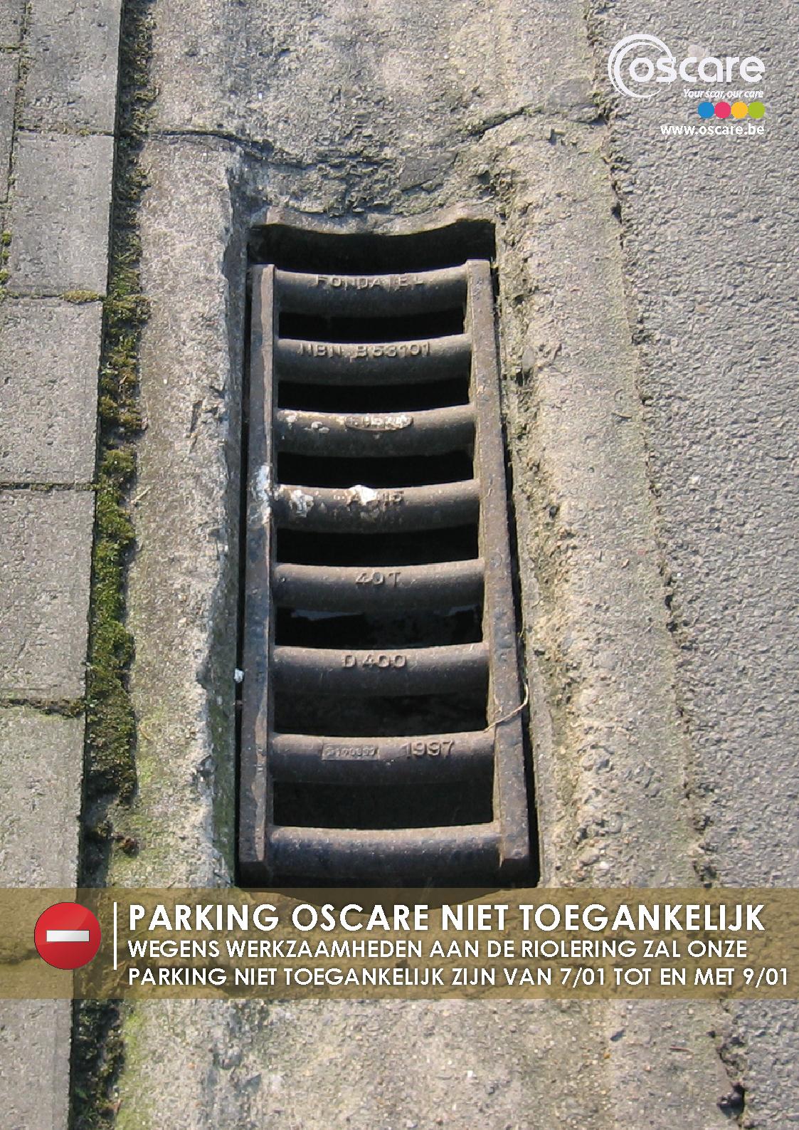 Werken aan de parking